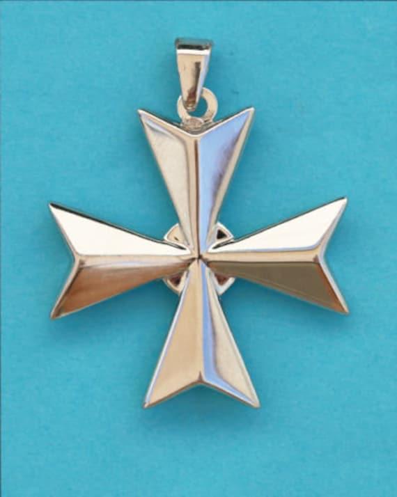 Hallmarked Genuine 9 ct Gold Maltese Cross Bracelet Amalfi St John Made in Malta