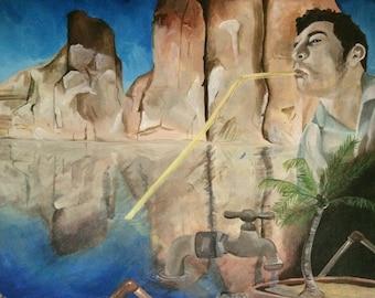 Colorado River - Painting Print