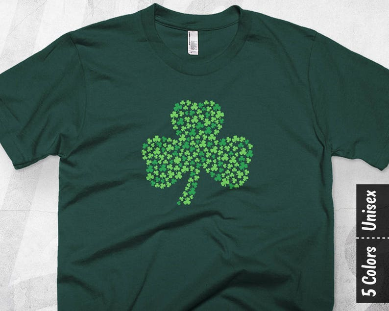 9a34653a8 Shamrock Shirt Women St Patricks Day T Shirt Irish Tee Mens | Etsy