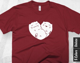 Cat Graphic Tee, Cat Lover Gift Funny, I Love Cats Shirt Heart Shaped, Feline Shirt Cute Cat Shirt, Unique Cat Shirt, Kitten Shirt Cat Humor