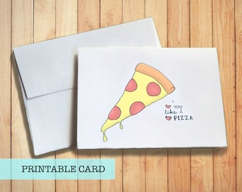 Pizza Love | PRINTABLE CARD