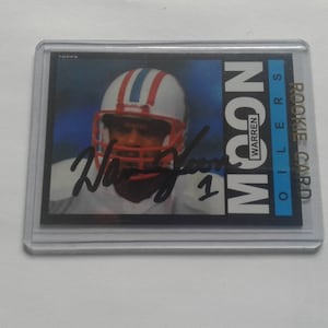 Warren Moon autographed card 54d385f6a