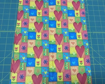Ro Gregg Hip Hop Hearts fabric.  BTY