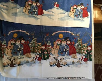 Daisy Kingdom Double Border Heaven and Nature Sing Christmas  Fabric  BTY