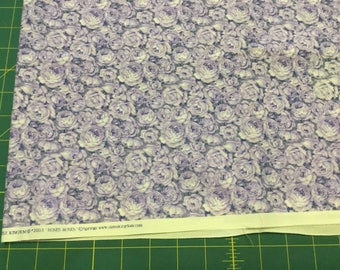 Daisy Kingdom Roses Roses Lavender fabric. BTY