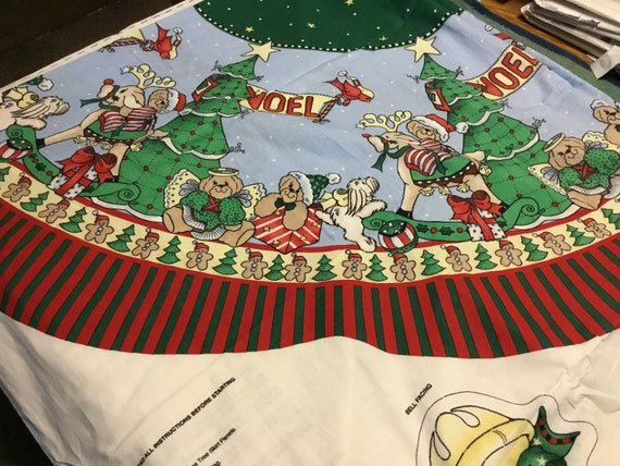 Rock Around The Christmas Tree.Patty Reed Rock Around The Christmas Tree Skirt Or Table Topper Panel