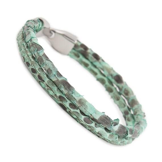 Pythonleder Schlange Für Armband Haut MännerSchlangenlederHerren LederarmbandLederarmband Y7gb6yf