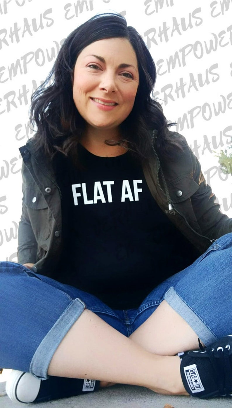 Chemo Care Package  Flat AF WOMEN'S TEE Going Flat image 0