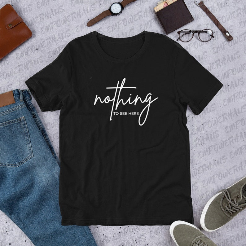Nothing to See Here UNISEX TEE Breast Cancer Awareness image 0