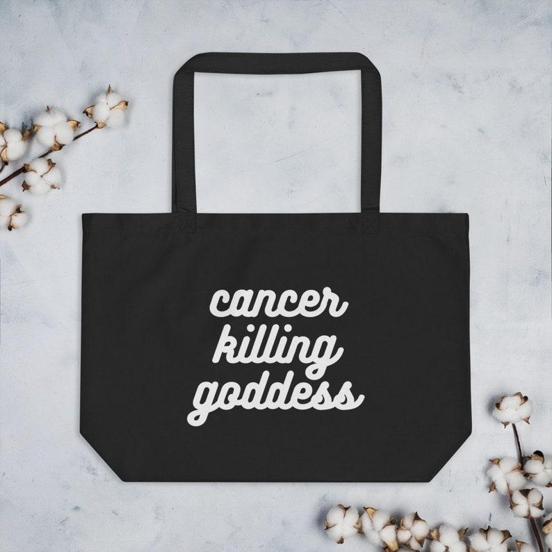 Breast Cancer Awareness  Cancer Killing Goddess  Tote image 0