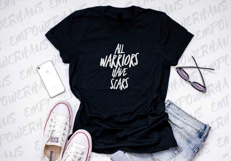 Breast Cancer Shirt  All Warriors Have Scars WOMEN'S TEE image 0