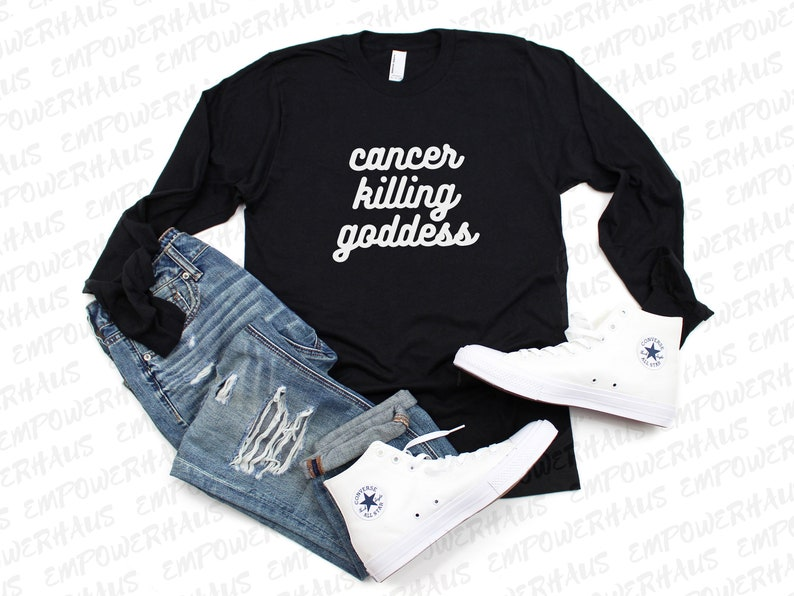 Chemo Care Package  Cancer Killing Goddess  Long Sleeve image 0