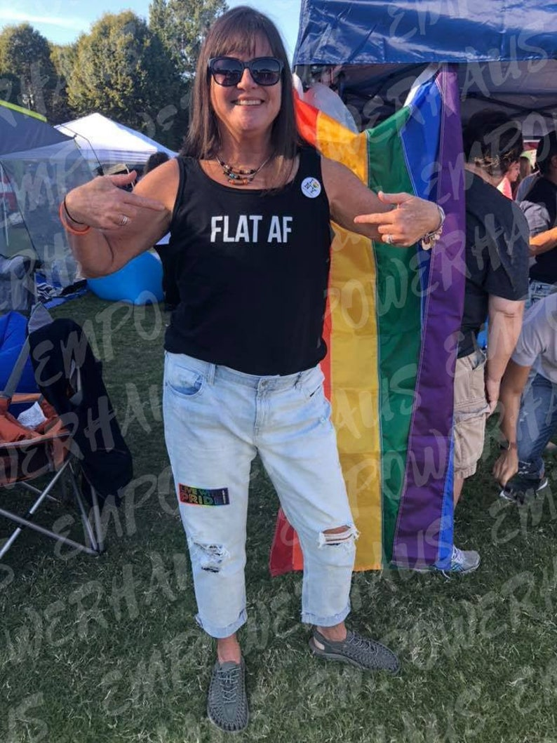 Flat AF TANK TOP Going Flat Flat Fashion Breast Cancer image 0