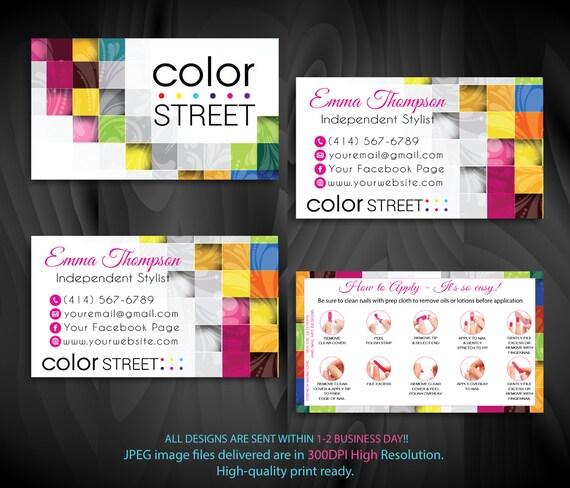 Farbe Street Visitenkarten Street Farbauftrag Karten Blumenmuster Farbe Straße Personalisierte Karten Cl74 Bewerbung
