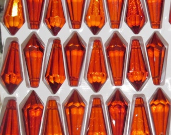 Orange Chandelier Etsy - Orange chandelier crystals