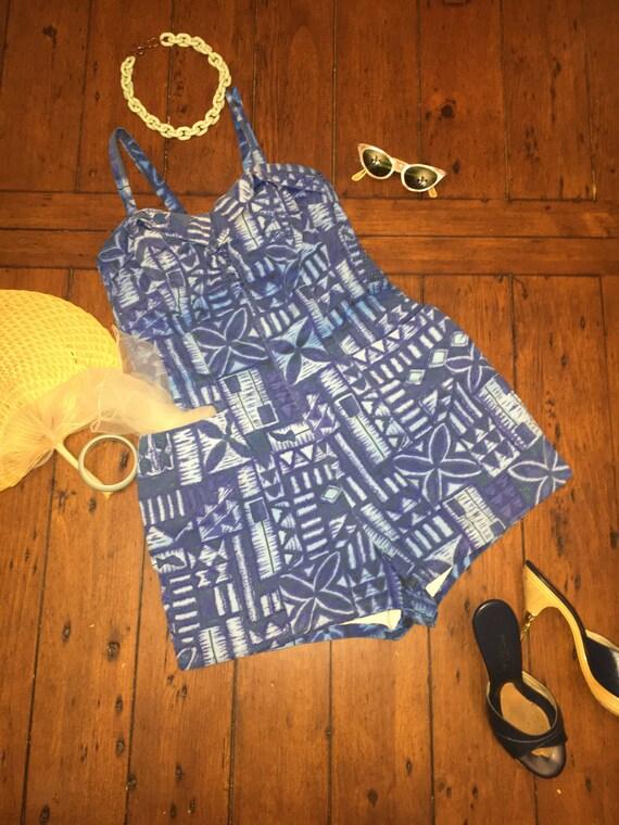 Vintage 1960s Paradise Hawaii Romper