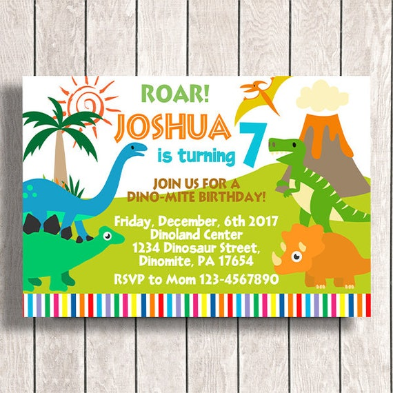 Dinosaur Invitation Instant Download Dinosaur Invitations Etsy