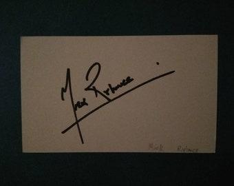 Mark Rylance autographed 3x5 index card