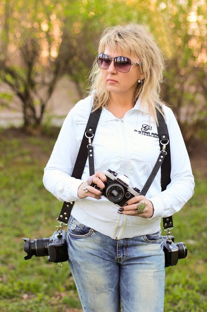 Double Camera Harness Double Shoulder Camera Strap Multicamera Strap Handstitched Harness Camera Harness Dual Leather Camera Strap KIT