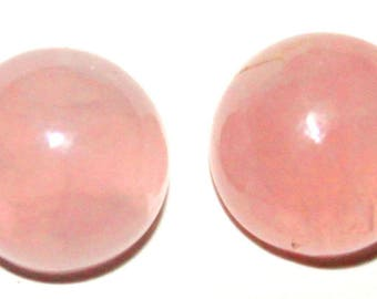 Stunning 15 Pcs Natural Rose QUARTZ Gemstone,Loose Stones,Approx 12 X 12 MM Round Smooth Birthstone Christmas Gift. Cabochon Loose Stone