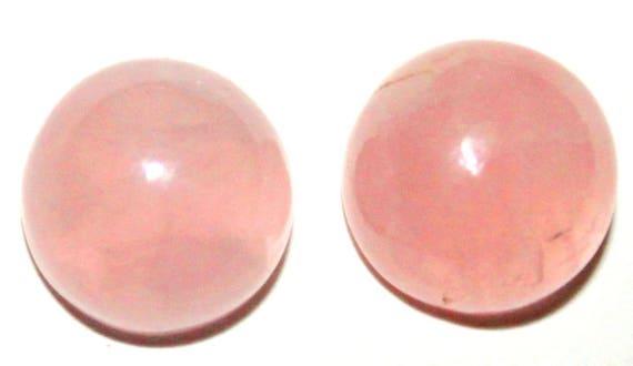 Natural Rosequartz Cabochon 8x8 MM Round Shape Calibrated Size Nice Quality Gemstone