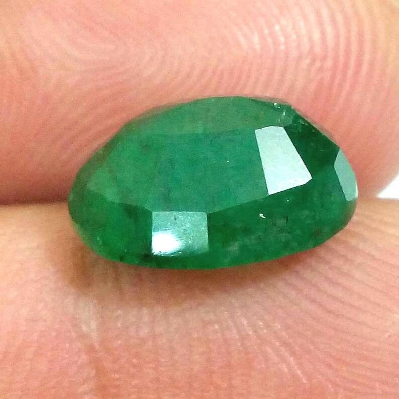100/% Natural Certified GREEN EMERALD Gemstone Precious Stone,Unheated,Approx 5.19 Ct,Genuine Sapphire Aprox 10X12 MM,Certified Birthstone