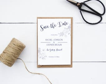 Rustic Rose Save the Dates, Rustic Save the Dates, Floral Save the Dates, Vintage Style Save the Dates, Wedding Save the Date Cards