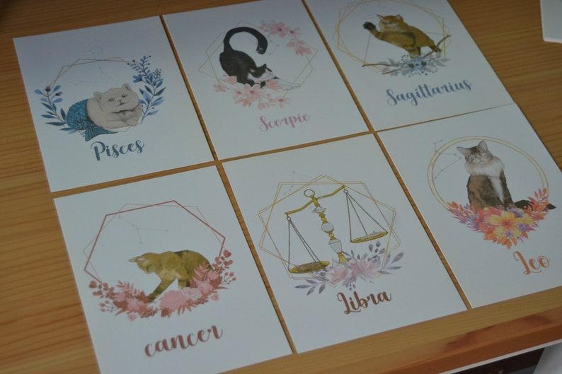 Zodiac cat Postcard