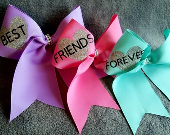 Best Friends Forever Cheer Bows