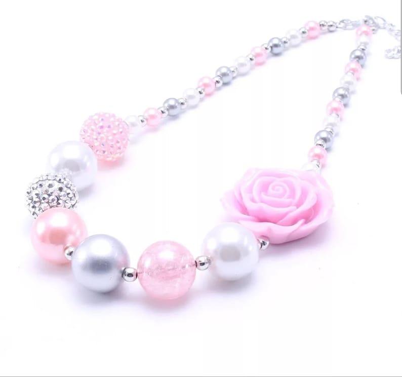 Frost Princess Mixed BubbleGum Beaded Necklace