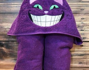 Smiling Cat Hooded Towel