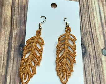 Lace Feather Earrings