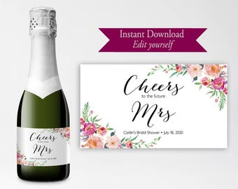 Diy Champagne Label Etsy - Champagne label template