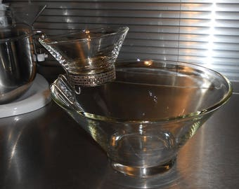 Anchor Hocking clear chip and dip set (with original box)