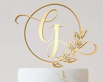 monogram letters wedding cake toppers monogram cake topper etsy 5996