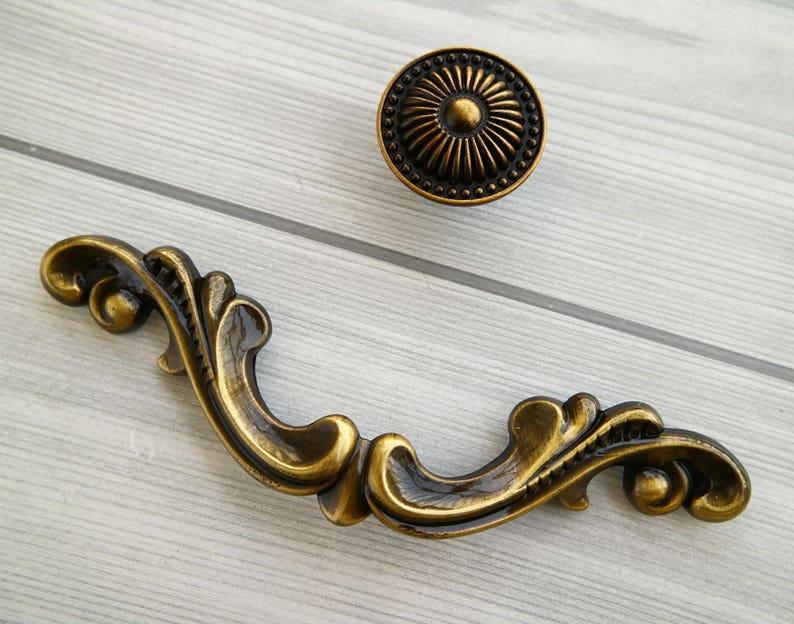 Antiques Antique Brass Wardrobe Handle 1800-1899