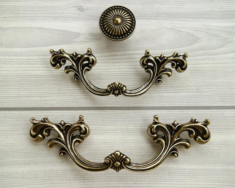 2.5\u201c 3.75\u201d 2 12 Antique bronze drawer handle knob dresser pull kitchen cabinet cupboard handle furniture pull knob rustic hardware 64 96mm