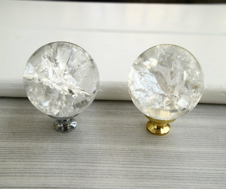 Furniture 25mm Diamond Crystal Cupboard Cabinet Dresser Drawer Wardrobe Door Knob Pull Handle Furniture Accessories Drop Shipping