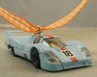 Porsche - FREE SHIPPING - Anytime Ornament -  917 LH Race car - man cave - Dad - Birthday - Fathers Day - Modern Muscle Car - lemans  muscle