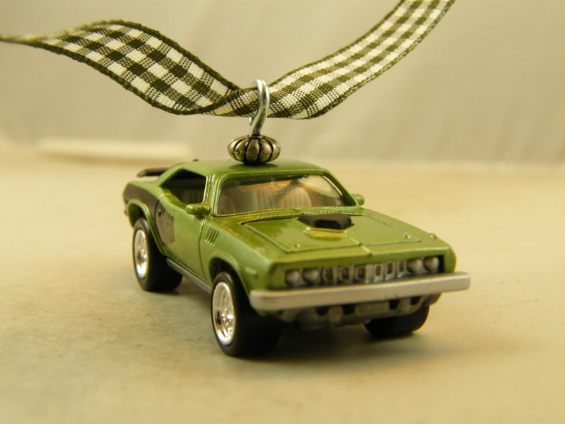 71 Cuda - FREE SHIPPING - Anytime Ornament - 1971 Plymouth - Fathers Day -  Birthday - man cave - Mopar Barracuda opening hood, Hemi shaker
