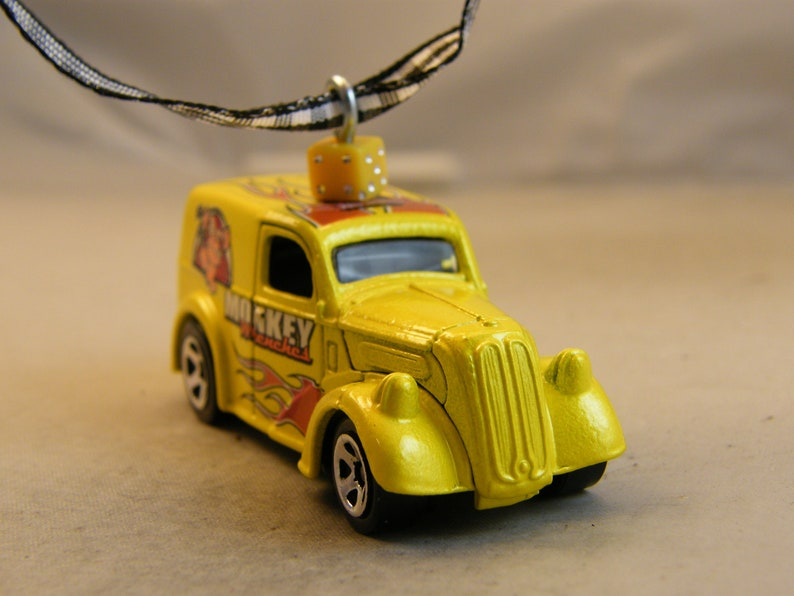 Anglia Birthday  Dad Fathers Day opening hood street rod  ratrod  old school muscle car Monkey Wrenches FREE SHIPPINGInsurance Ornament