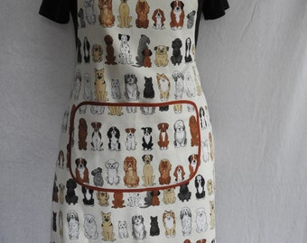 Adult apron with dogs