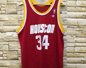 584d40cc4 Vintage Champion NBA Houston Olajuwon 34 Jersey T Shirt