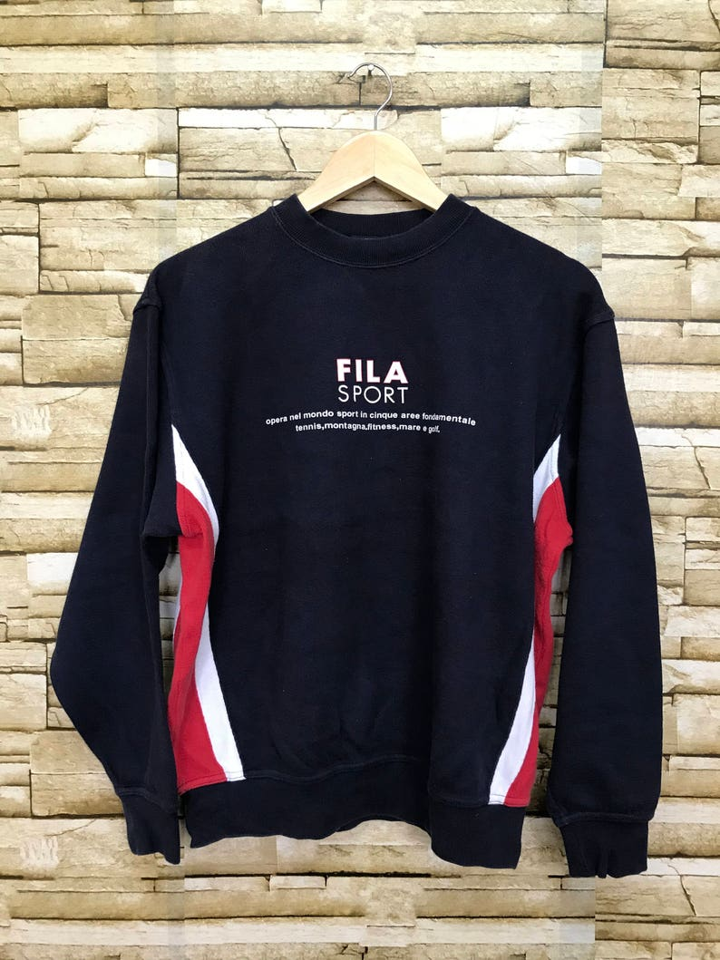 2c86fa017047 Vintage Fila Sport Sweatshirt Big Logo | Etsy