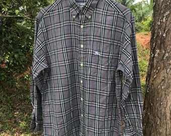 Burberrys Nova Chek Plaid Made in England Shirt