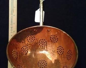 Copper ladle/strainer