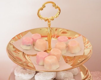 Peach Bellini Pink White Chocolote Gems (Cookies and Cream)