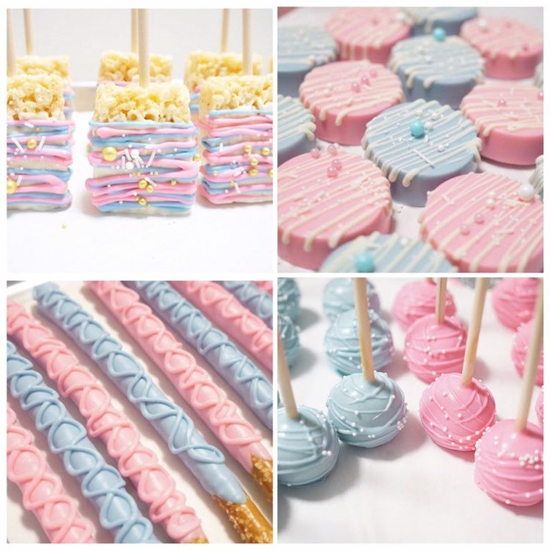 Deluxe Bundle Gender Reveal Baby Shower Dessert Table Party Etsy