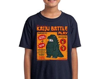 Kaiju Player 1  Kids Tee - Retro Kaiju Costume   Japanese Tokusatsu Show   Godzilla Inspired   Classic Monster Battle Youth Kids T-shirt