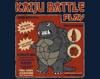 Kaiju Player 4 - Retro Kaiju Costume   Vintage Style   Japanese Tokusatsu Show   Gamera Inspired   Classic Monster Battle Unisex T-shirt